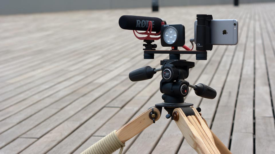 Shoulderpod X1 professional tripod rig for iphone